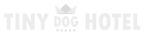tiny dog hotel white logo