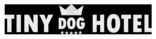 tiny dog hotel white logo